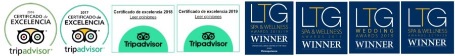 Tripadvisor certificado de excelencia y premios Luxury Travel Guide